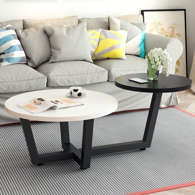 北歐茶幾圓形客廳簡約現代小戶型迷你小桌子客廳創意圓桌簡易茶幾【快速出貨】