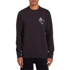 VOLCOM(ボルコム) アウター パーカー・スウェット Volcom V-Line Washed Fleece Sweatshirt Black メンズ [並行輸入品]