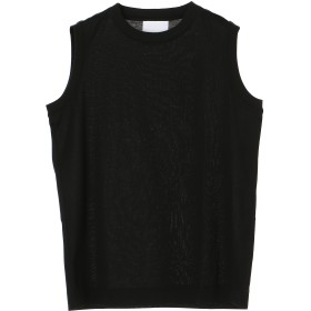 SLOANE 【予約】【限定パッケージ】60/2コットン天竺ノースリーブ ブラック ウォッシャブル Tシャツ・カットソー,ブラック