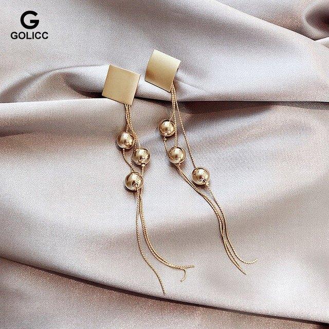 耳環 925銀針長款流蘇誇張耳環2019新款潮氣質時尚女耳墜網紅個性耳飾