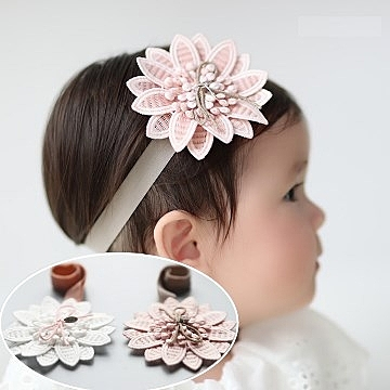 UNICO 兒童質感甜美系花朵髮帶