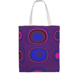 wuhandong-女性の カジュアル キャンバス トート ショッピング バッグ 折りたたみ 旅行 バッグ-パープル グラフィック TV シグナル