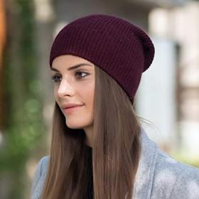MYKUNSIA ニット帽 女性のための冬の帽子カシミアビーニーニットスカルキャップアンゴラポンポン