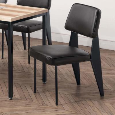 H&D 格瑞斯黑皮餐椅
