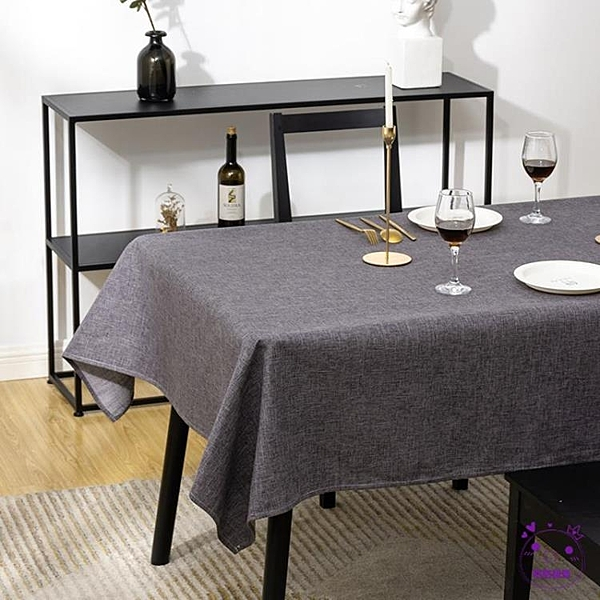 桌布 桌布防水防油免洗布藝棉麻北歐簡約茶幾長方形臺布餐桌布網紅桌墊 點點服飾