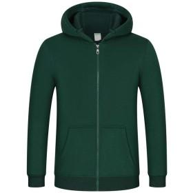 プルオーバーセーター新しいフリースジップフード付きのセーター肥厚プルオーバーセータースポーツやレジャープラスベルベットのメンズパーカー (Color : Green, Size : L)
