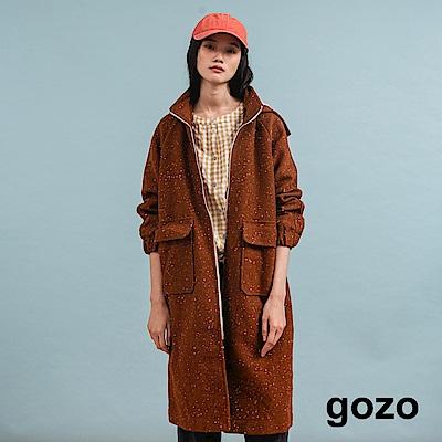 gozo 法式優雅長版羊毛連帽外套(二色)