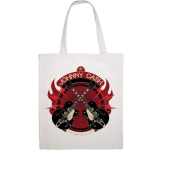 キャンバス トートバッグ ジョニーキャッシュ ギター キャンバスバッグ 手提げ袋 通学 ショルダーバッグ 手提げバッグ 通勤 収納 帆布バッグ 軽量 シンプル 大容量 肩掛け 旅行 カジュアル 幅広くお使い 簡単