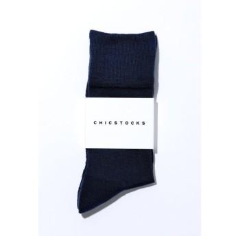 CHICSTOCKS / シックストックス SILK MIX(シルクミックス)ソックスDark Navy (ダークネイビー)