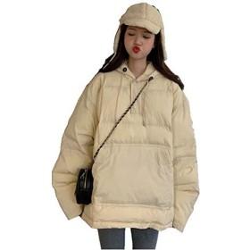 ダウンジャケット ダウンコート レディース アウター アノラックペディン フード付き プルオーバー 大きいサイズ 韓国 トレンド (ホワイト, FREE)