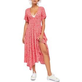 Free People(フリーピープル) トップス ワンピース Free People In Full Bloom Dress Red Combo レディース [並行輸入品]