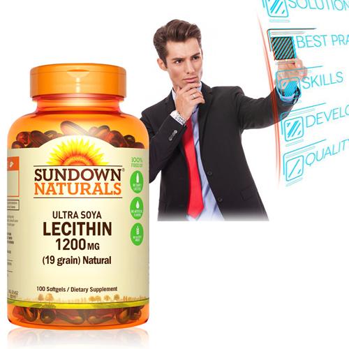 頂級61%卵磷脂膠囊(100粒/瓶)【Sundown日落恩賜】商品有效期限-2023/6月底