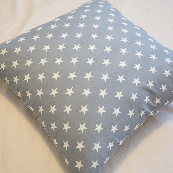 藍色星星 手工方抱枕 45X45cm【棉床本舖】