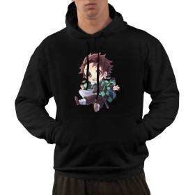MJAKKPLL 鬼滅の刃 鬼殺隊 パーカーの男性が面白いパーカー春と秋冬の上着を3 D印刷してカジュアルにしています暖かいです パーカー L