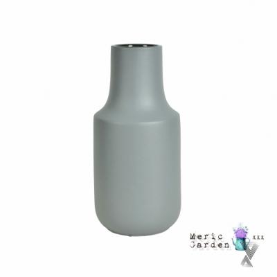 【Meric Garden】日式創意啞光釉陶瓷花瓶/花器_(莫蘭迪灰L)