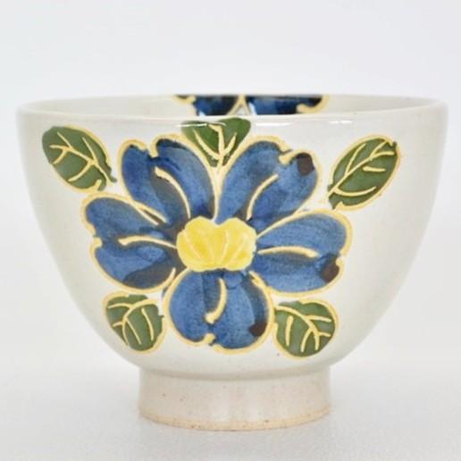[偶拾小巷] 日本製 有田燒 職人手繪季節花卉陶碗 十一月山茶花
