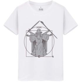 Lord Of The Rings Hobbit Gandalf メンズ/レディース Tシャツ/夏服 半袖 Tシャ