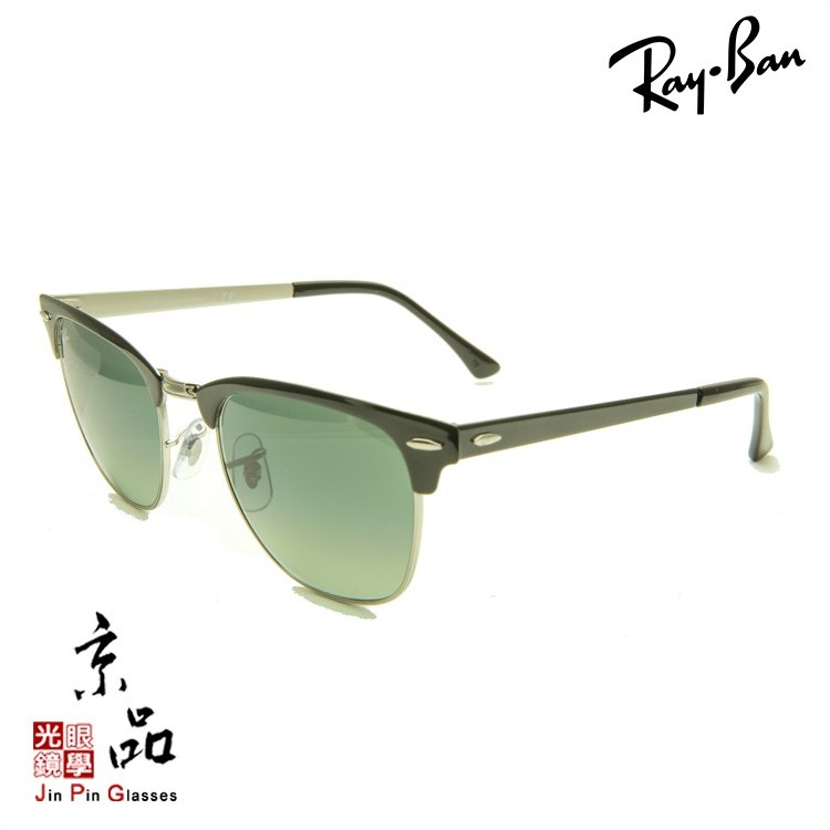 【RAYBAN】RB3716 9004/71 黑眉銀色複合框 漸層墨綠鏡片 雷朋太陽眼鏡 公司貨 JPG 京品眼鏡