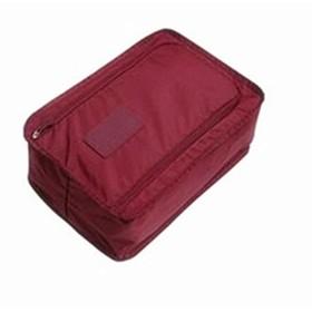 便利な旅行収納袋ポータブルオーガナイザーバッグ靴ソートポーチ多機能防水ダブルシューズバッグ