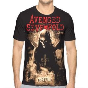 メンズプリント半袖Tシャツ Avenged Sevenfold 夏の人気の男性の半袖、旅行、仕事、スポーツ、毎日の行動XXL