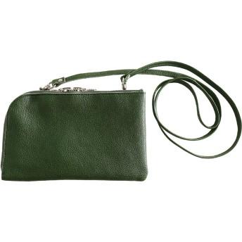 [ HALEINE ] 日本製 本革 お財布ポシェット 長財布 レディース 2way 3way バッグ : グリーン