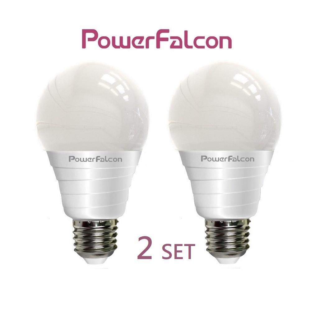 PowerFalcon[紅隼] LED白光球泡燈-2入(全電壓, 台灣艾迪森原廠燈珠)