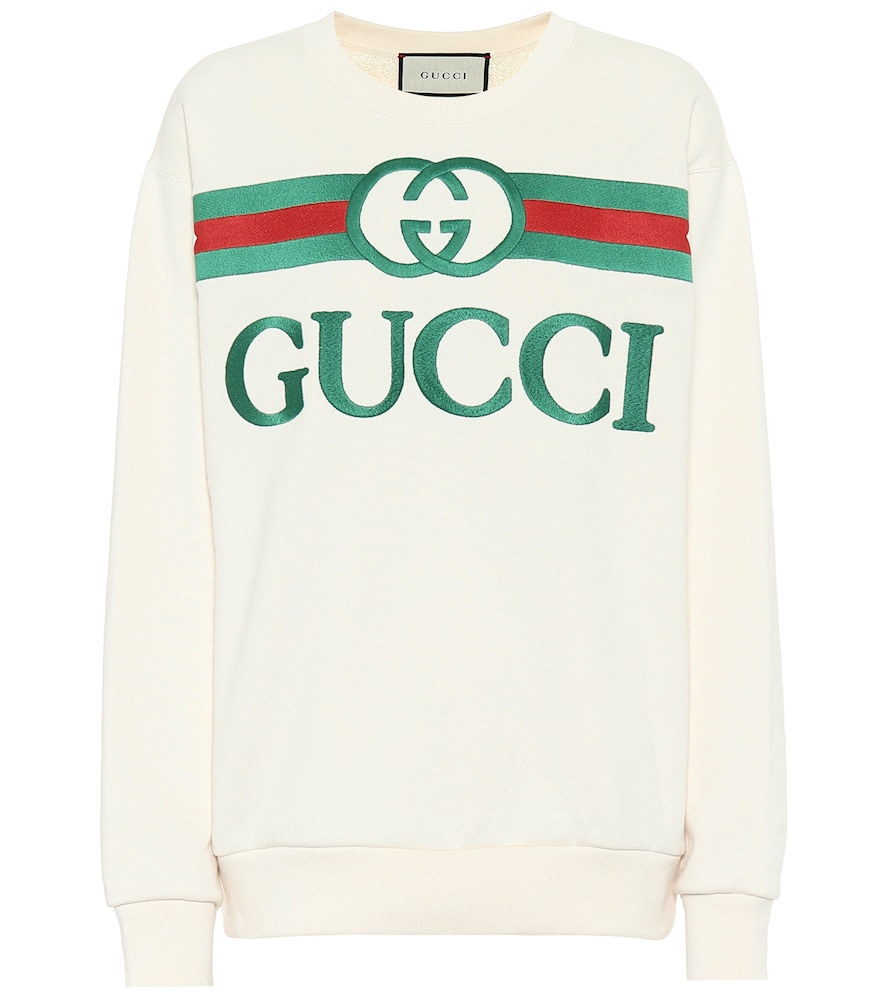Oversized logo cotton sweatshirt