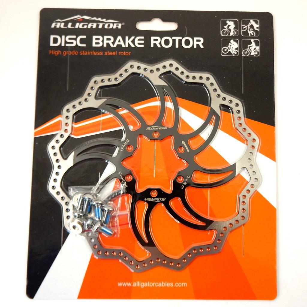 Alligator Starlite 公路車不鏽鋼黑色碟盤 160/180/203 Brake Disc Rotor