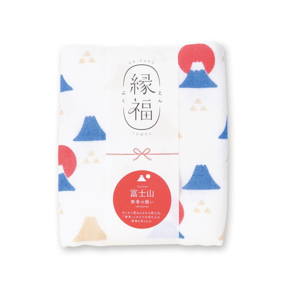 [偶拾小巷] 日本製 緣福 純棉多用途毛巾 手拭巾 - 富士山