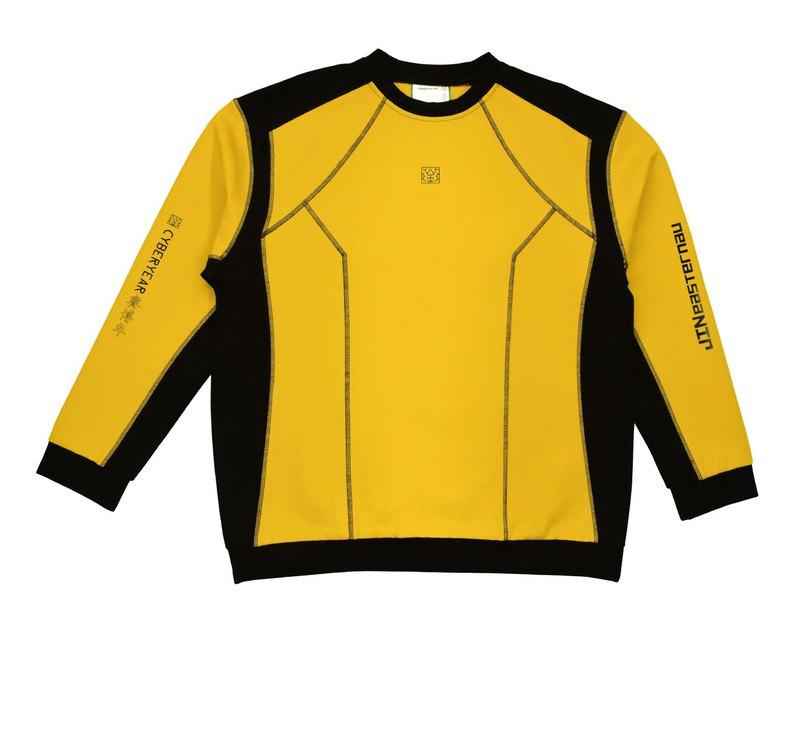 YE. SCI-FI RACING SWEATSHIRT 黃色賽幻衛衣