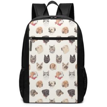 ねこ リュックバック リュックナップザック バッグ ノートパソコン用のバッグ 大容量 バックパックチ キャンパス バックパック 大人のバックパック 旅行 ハイキングナップザック One Size