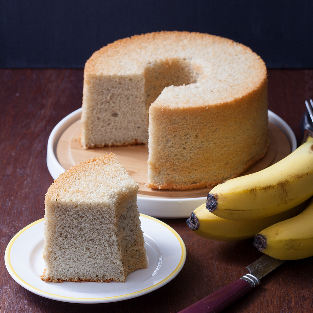 Soft Green 香蕉戚風 (七吋) 彌月蛋糕/週歲蛋糕/寶寶蛋糕/ 天然 手作 無添加