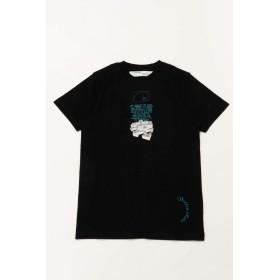 (オフホワイト) OFF-WHITE Tシャツ ブラック メンズ (AA027R20 185005) 【並行輸入品】【L-ブラック】