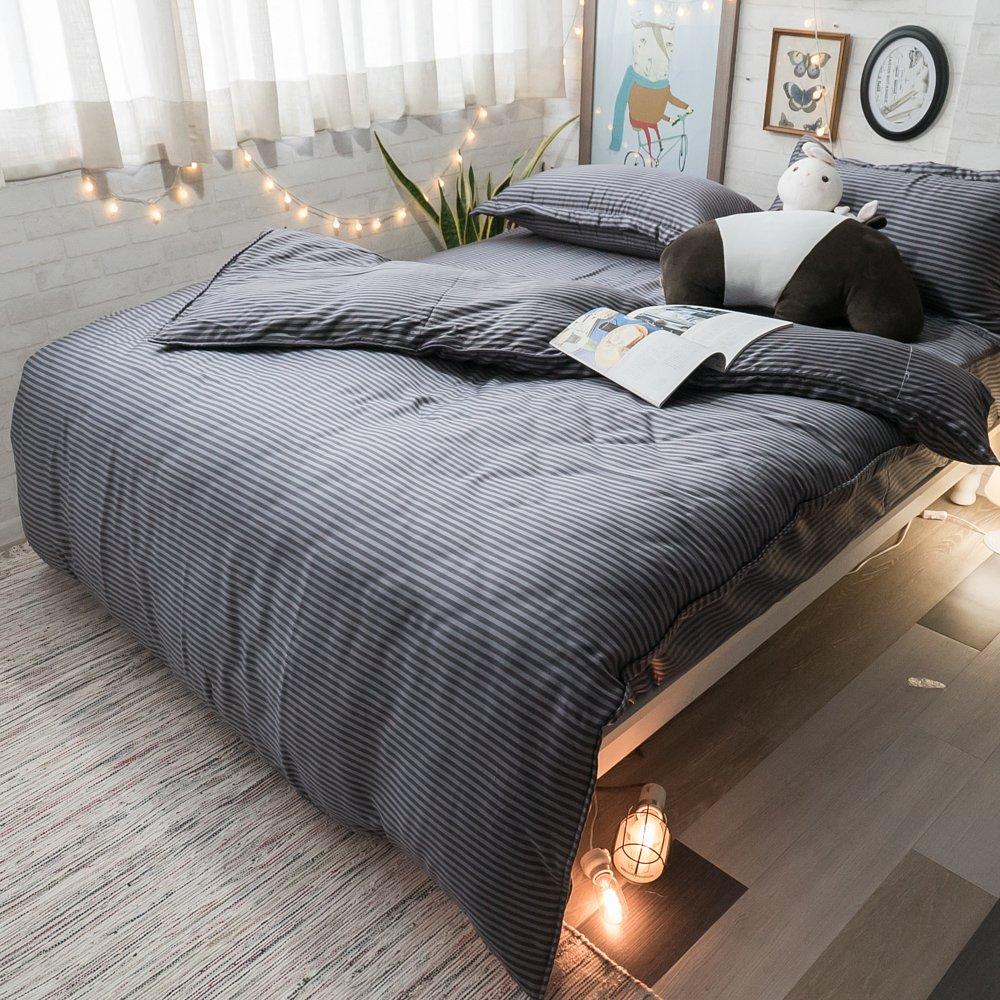 100%天絲 鋪棉床包兩用被組合 墨跡【棉床本舖】