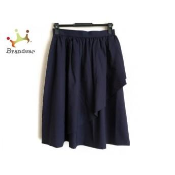 イヴサンローラン YvesSaintLaurent スカート サイズM レディース ダークネイビー  値下げ 20200326