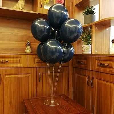 墨藍色氣球寶石藍生日婚禮氣球裝飾派對布置【英賽德3C數碼館】