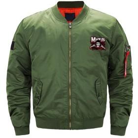 メンズ フライトジャケット ミリタリー ジャンパー ミスフィッツ ジャケット ブルゾン カジュアル ライダース 防風 3色 大きいサイズ アメカジ バイク 撥水 ショート丈 プリント ファッション