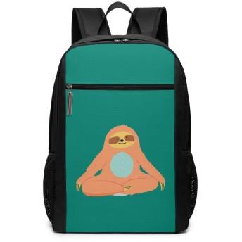 ヨガ ナマケモノ リュックバック リュックナップザック バッグ ノートパソコン用のバッグ 大容量 バックパックチ キャンパス バックパック 大人のバックパック 旅行 ハイキングナップザック