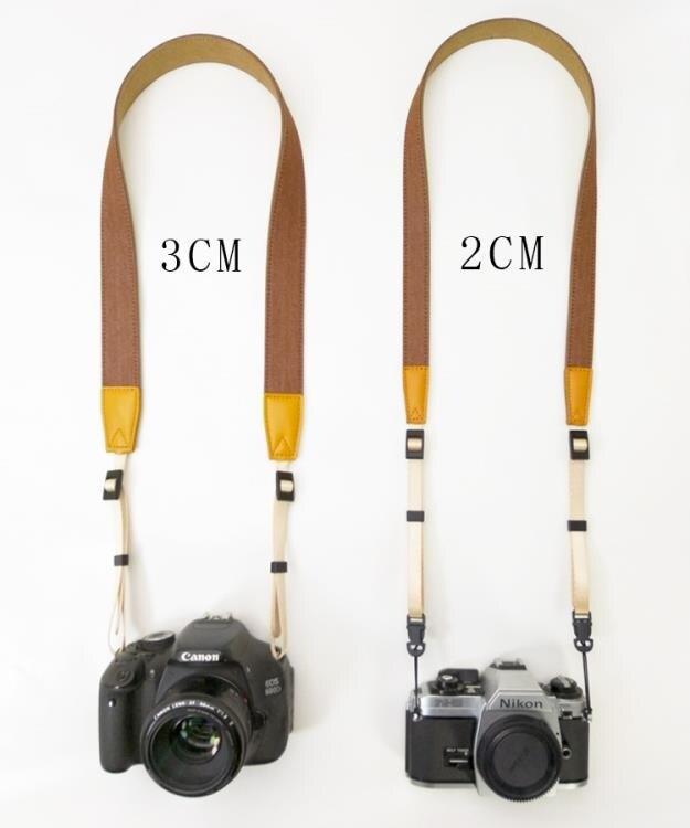 相機帶 牛仔窄款相機背帶減壓微單相機肩帶拍立得相機帶復古單眼背帶