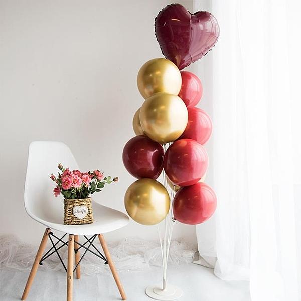 地飄桌飄婚房氣球支架立柱生日派對裝飾婚禮場景布置用品【英賽德3C數碼館】