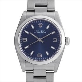 48回払いまで無金利 ロレックス オイスターパーペチュアル 77080 ブルー/369ホワイトバー A番 中古 ボーイズ(ユニセックス) 腕時計