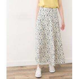 ROSSO(ロッソ) スカート スカート F by ROSSO フラワープリントフレアスカート【送料無料】