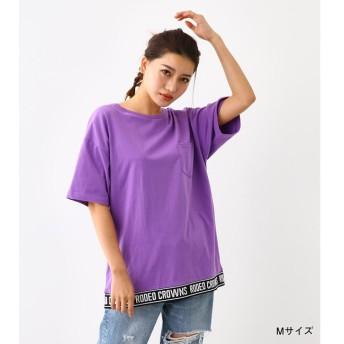 【ロデオクラウンズ/RODEO CROWNS】 裾リブロゴ Tシャツ