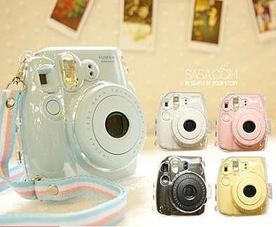 富士拍立得mini8/9相機 mini8s/9透明水晶殼 硅膠套 皮包保護殼 小明同學