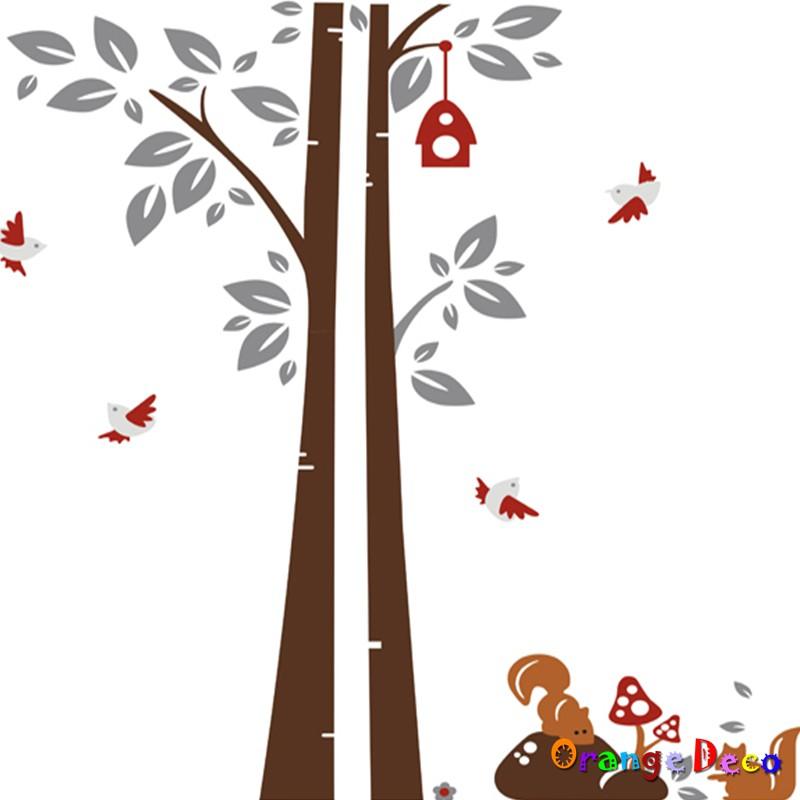 【橘果設計】松鼠與樹 壁貼 牆貼 壁紙 DIY組合裝飾佈置