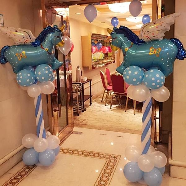 寶寶生日周歲派對迎賓氣球立柱婚禮布置裝飾用品路引【英賽德3C數碼館】