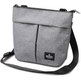 グレー F ミニショルダーバッグ メンズ レディース ナイロン 肩掛け 鞄 大容量 サコッシュ 18120127-GRY-F_ax