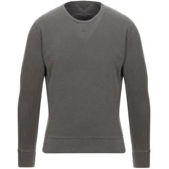 《セール開催中》MAJESTIC FILATURES メンズ スウェットシャツ ダークブラウン M コットン 85% / カシミヤ 15%