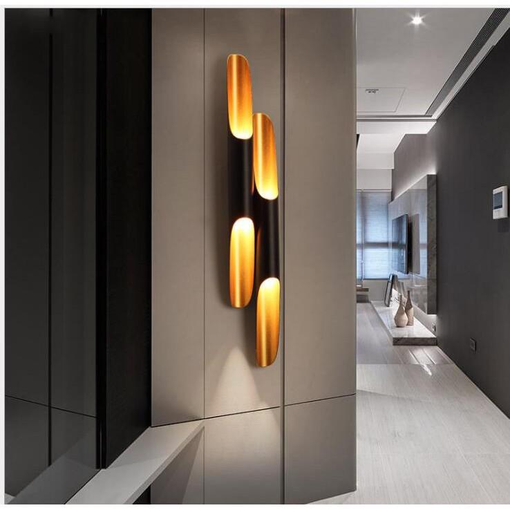 Pure.home☞熱賣 北歐藝術斜口鋁管竹子壁燈床頭客廳臥室現代展廳背景墻壁燈設計師