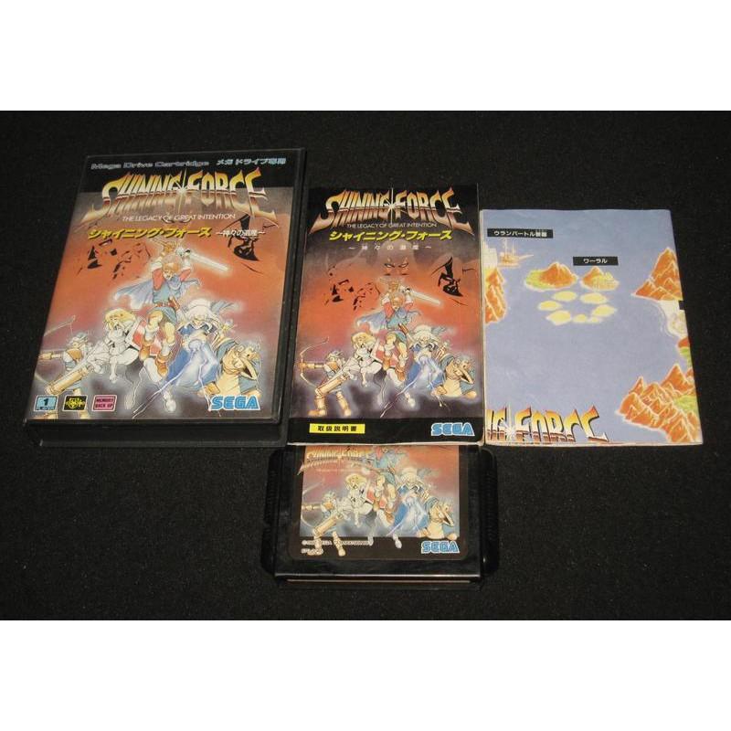 遊戲達人SEGA MD原裝日版~SHINING FORCE 光明與黑暗續戰篇~諸神的遺產~ 有地圖&道具表 值得收藏